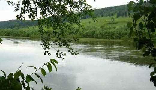 Река Чусовая чуть выше устья Чизмы