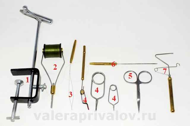 Инструмент для вязания мушек начало 32