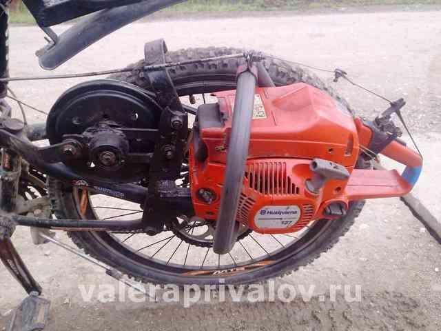 Велосипед на бензиновом двигателе своими руками