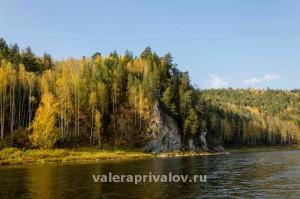Река Чусовая - скала Горчак