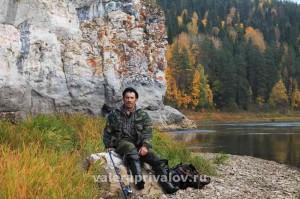 Река Чусовая - на фоне скалы Отметыш