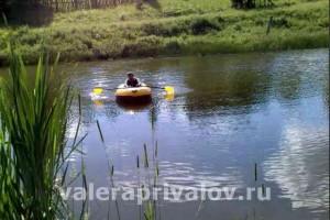 challenger-2- испытание на пруду